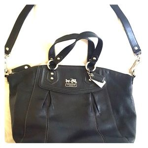 Authentic Leather Large Coach Bag
